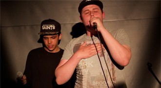 Kidzie and Intruda performing at Brighton Breakout