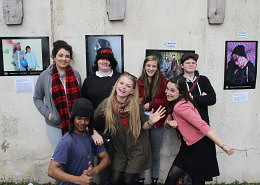 The Media group with tutor Lyndsay (front right pulling the funny face...)