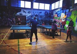Table tennis was provided!