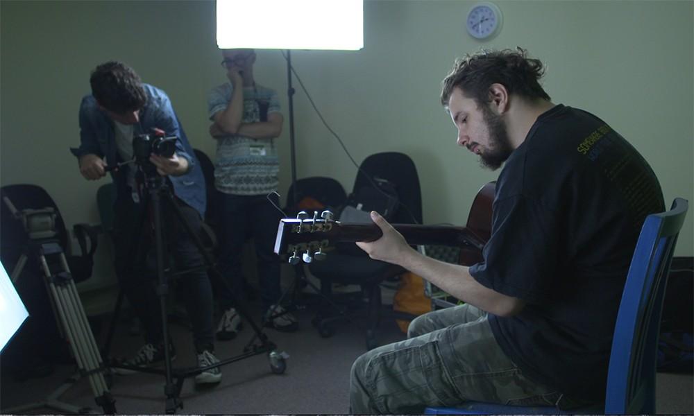 Media students filming