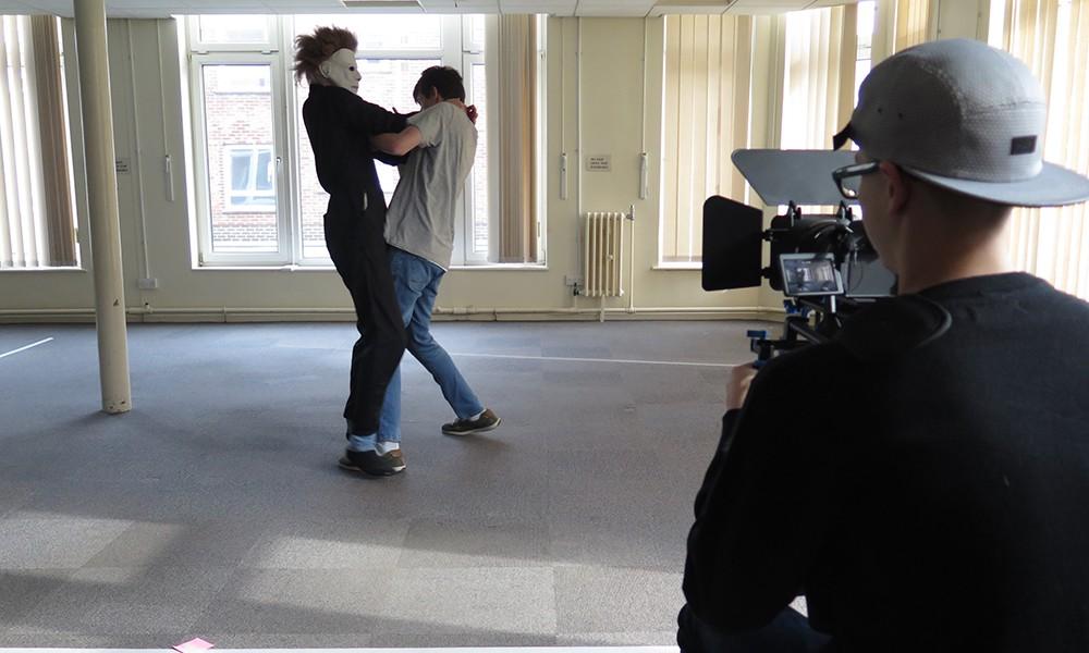 Horror film shooting