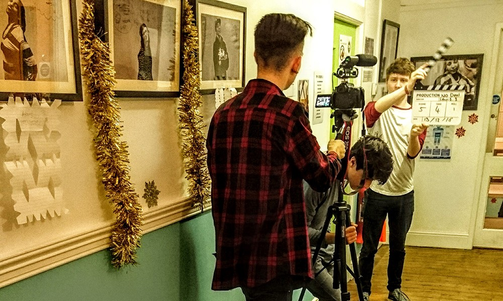 Media Production students filming
