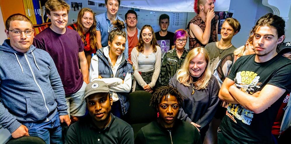 Students meet QM Records