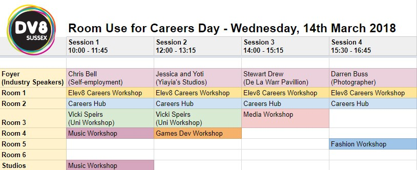 Careers Day - Bexhill Room Use