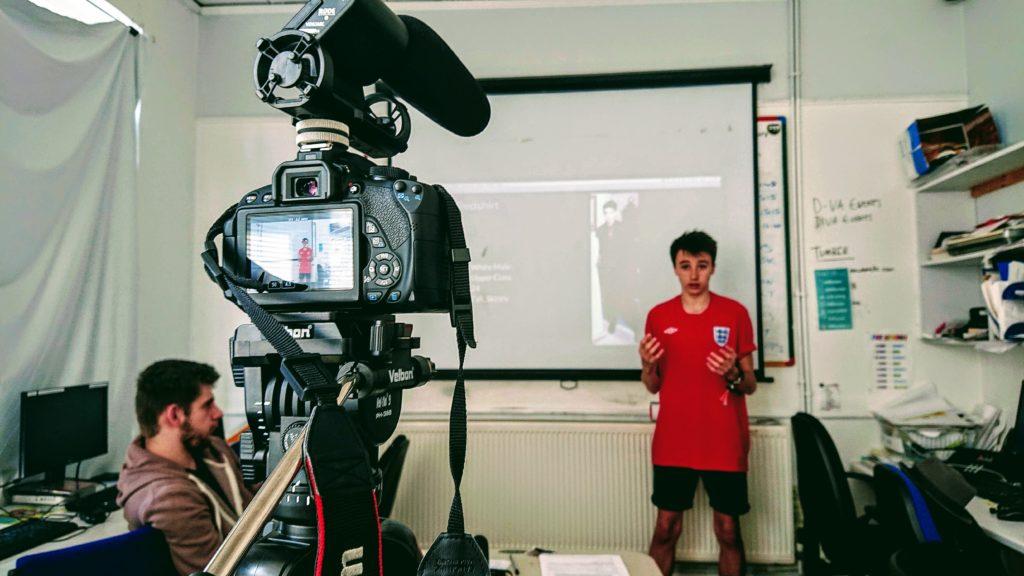 Yekerz making a short film