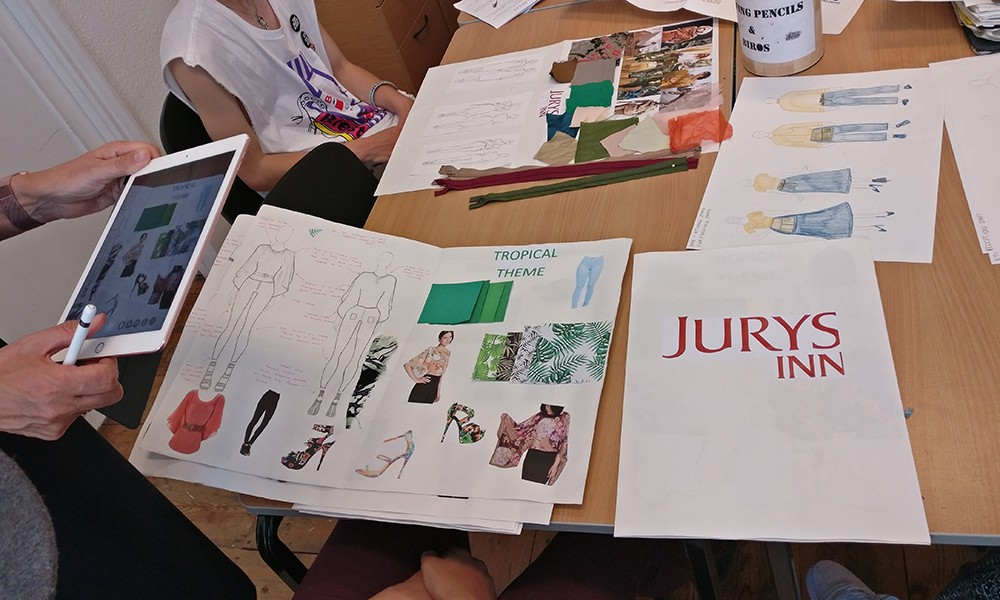 Fashion presented concepts to Jurys Inn