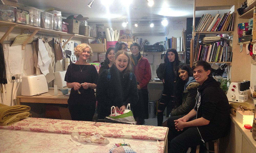 Fashion Students at Sew Fabulous in Brighton