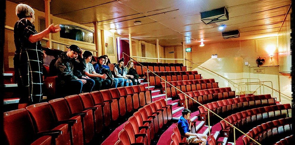 Students visiting the Theatre Royale