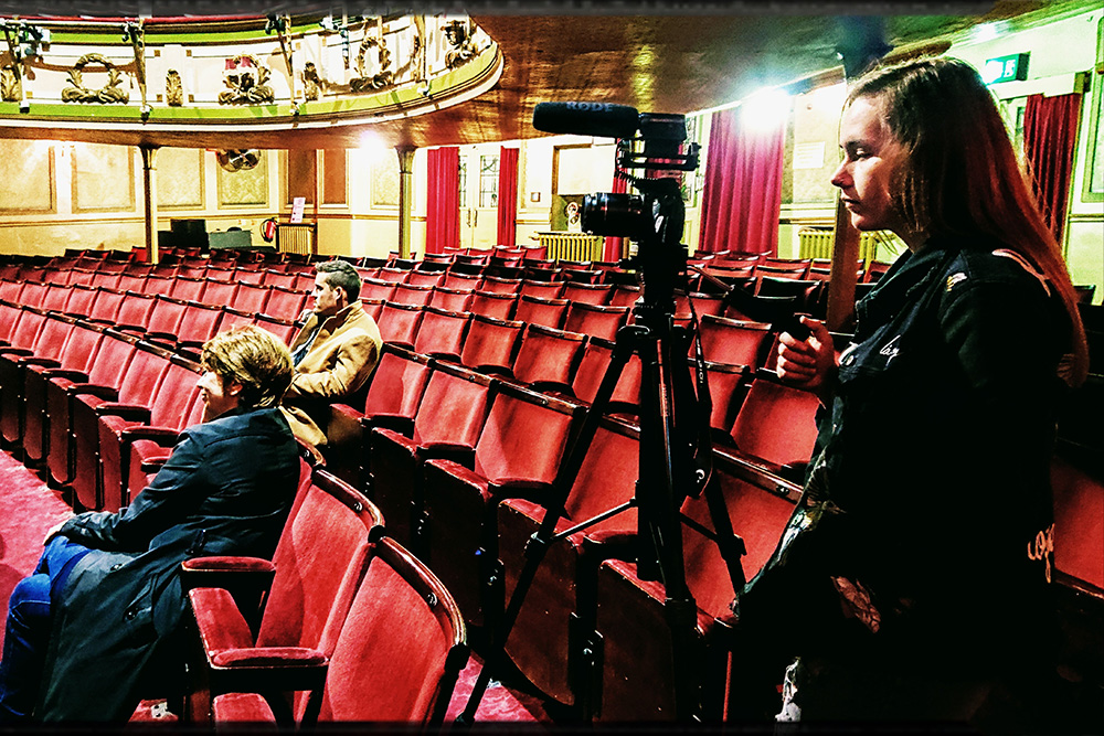 Jordan Filming at Theatre Royale