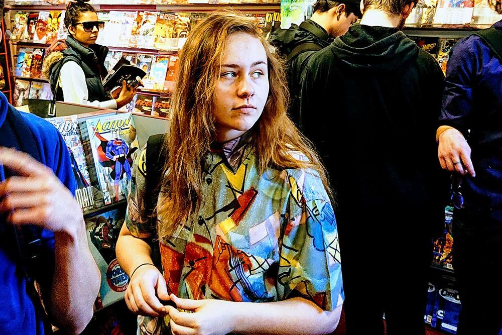 Jordan at Dave's Comics