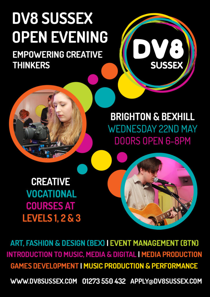 Dv8 Sussex Open Evening Poster